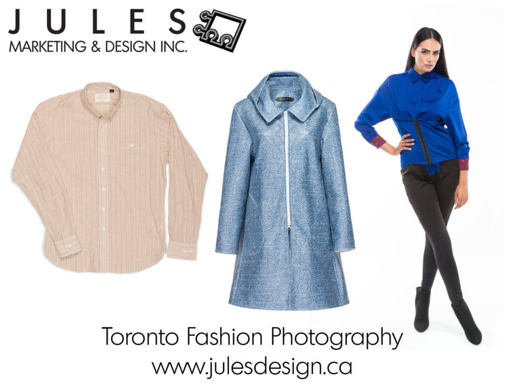 Toronto Fashion Photography Laid Flat, Ghost Mannequin and Clothing on Model. Colour Accurate